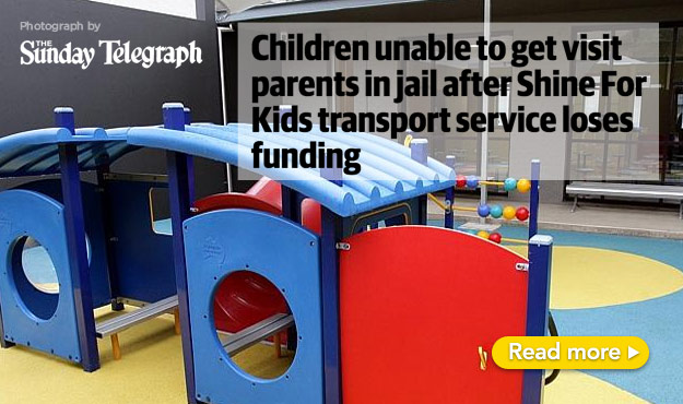 Children unable to visit parents in jail after Shine for Kids transport service loses funding